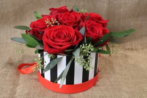 Hats Off To Love Half Dozen Rose