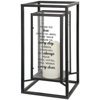 """Always Near\"" Lantern double framed"