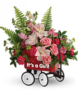 It\'s A Girl Little Wagon Bouquet