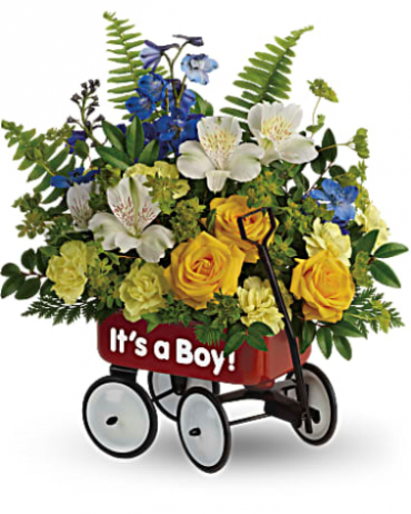 It\'s A Boy Little Wagon Bouquet