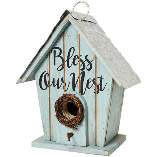 """Bless Our Nest\"" Birdhouse"